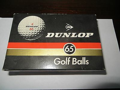 Vintage Dunlop 65 Golf Balls Mint and Boxed