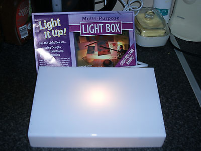 Multi - Purpose Light Box ~ Ideal For Crafts ~ New In Box (Plug In)