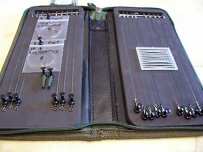 Ngt Stiff Rig Wallet With  20 Top  Quality Hand Tied Carp Hair Rigs