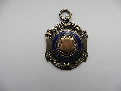 English Schools or Enfield Schools Rugby League Medal Hallmarked Silver