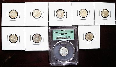 Nice Group Of Uncirculated & Proof Silver Roosevelt Dimes