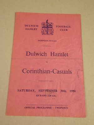DULWICH HAMLET v CORITHIAN CASUALS  ISTMIAN LEAGUE GAME 1950-51