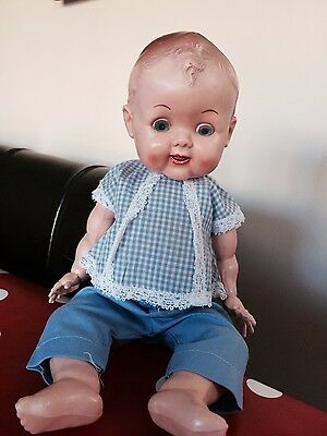 Vintage retro little hard plastic 11 inch Roddy doll