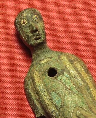 Rare Medieval Limoges Holy Figure, 12. Century, Statue