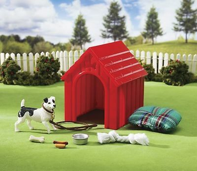 Breyer Model Horses Stablemates Size Dog House Play Set #1508 Jack Russell