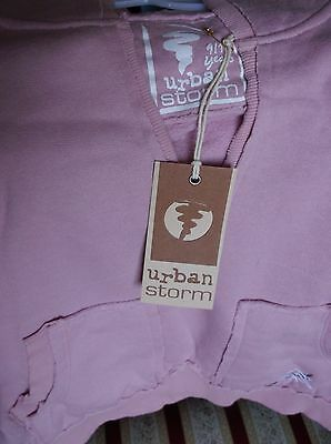 Brand New Branded Urban Storm Pale Pink Girls Hoodie Age 9-10Years