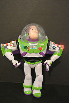 """Disney Buzz Lightyear Toy Story Talking Toy Action Figure 12"""" Rrp£49.99 Thinkway"""