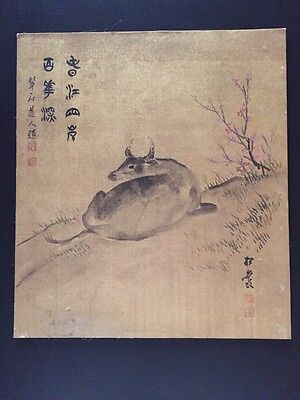 Vintage  Japanese Painting  Old Asian art