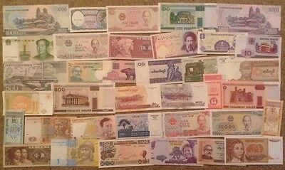 Assortment Of 36 X World Banknotes. All Different. Unc