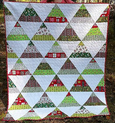Quilt with Christmas Tree Design