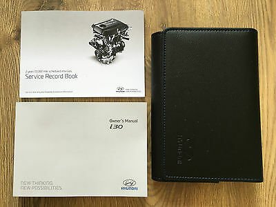 HYUNDAI i30 OWNERS MANUAL HANDBOOK PACK WITH WALLET +SERVICE 2011-2016 REF3734