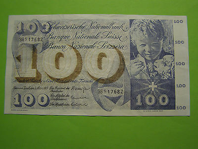Switzerland 1973 100 Francs Counterfeit Note - Not Legal Tender