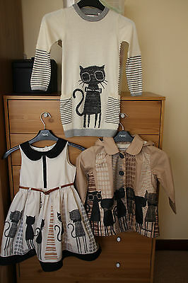Girls Next Outfit / Set: Jumper/tunic and coat /jacket: 2 - 3 Y, dress 3 - 4 Y)