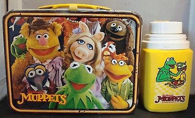 """""""The Muppets"""" Lunchbox & Thermos W/ Kermit the Frog, Fozzie, Animal, & Ms.Piggy!"""