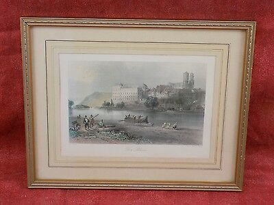 fine print of painting by W H Bartlett, engraved by J C Bentley, The (Der) Rhien