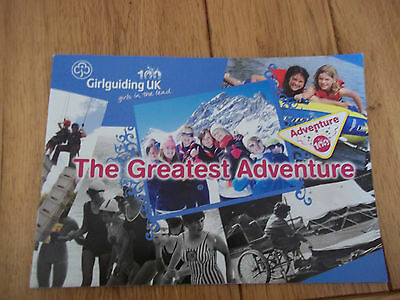 Girl Guides Booklet -The Greatest Adventure 100 Anniversary - 2009 c/w stickers