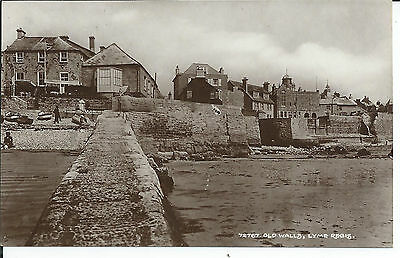Real photo postcard of the old walls Lyme Regis  Dorset in very good condition
