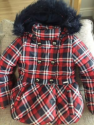 Mayoral Girls Designer Coat T7 /122cm Great Condition Perfect for Christmas 🎄☃️