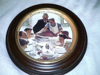 "Norman Rockwell Centennial Thanksgiving Plate No. 263 C -""Freedom From Want"""