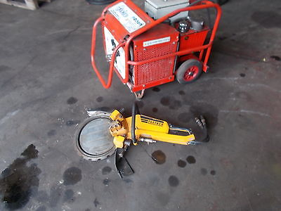 ring saw and hydraulic power pack varable flow rate