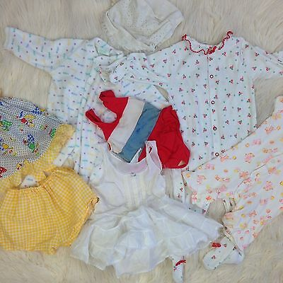Vtg baby cutter lot DAMAGED for crafting projects clothes clothing outfit baby