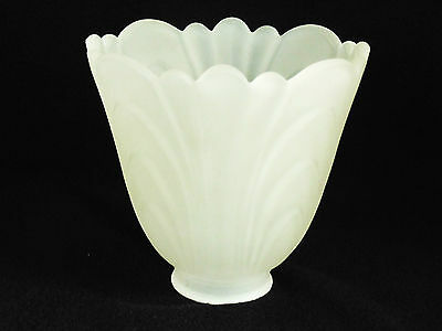 "2-1/4"" Fitter Draped Art Deco Glass Light Shade Wall Sconce Fan Victorian Style"