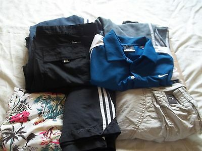 Men's sporty bundle,Golf trousers & t-shirt,trackies,shorts,swimshorts;Next,Fire
