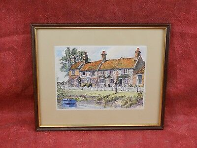 Very fine Original print of Painting, Landscape, gilt and wood frame, Attractive