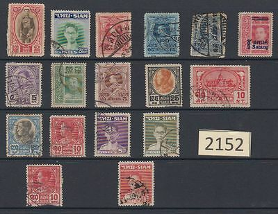 SIAM (Asia) Some old used stamps SI-2152