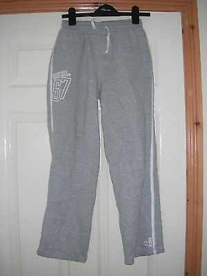 Girls Grey tracksuit bottoms age 10/11 years by Cherokee good condition