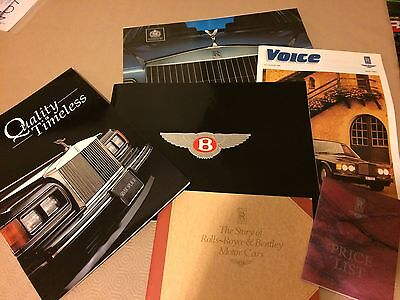 Rolls Royce and Bentley Brochures From 1990 Mint Condition