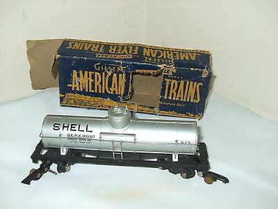 American Flyer # 625 Tanker Car Shell 1940 with box 3/16 S scale