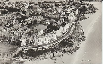 Tenby - Pembrokeshire- Aerial View-  -  Real Photo Postcard