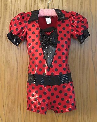 Competition Dance Costume - Jazz - Quality Red & Black Girls' sz 8-10