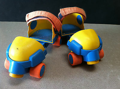 Vintage 1992 Fisher Price Grow With Me Adjustable Roller Skates 2344