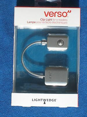 Verso eReader Clip On Reading Light for Nook Kindle Graphite, New in package!