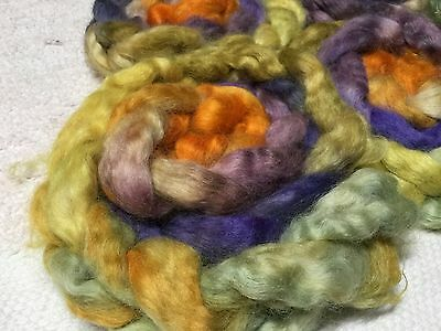 Hand Dyed Wensleydale Roving/ Top For Spinning Felting Crafts. X 100 Grams