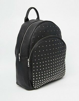 40 X Unisex Black Faux Leather Backpack Rucksack Bag New Look Wholesale - Faulty