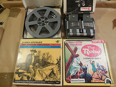 Super 8mm Films+splicer+home movie XMAS REDUCTION BE QUICK