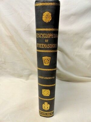 Encyclopedia of Freemasonry Book Antique Art Science Fraternal Masonic 1917