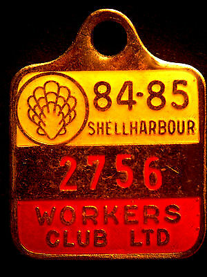 Shellharbour Workers Club Ltd. Enamel Member Badge