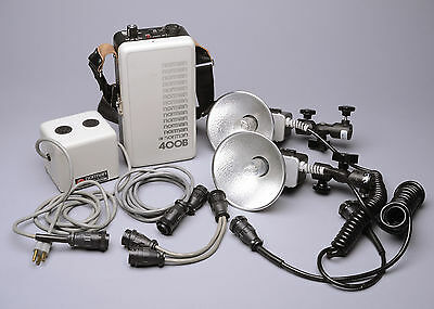 Norman 400B battery strobe flash