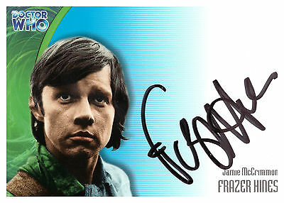 Dr / Doctor Who Definitive Series 3 Frazer Hines Jamie Au16 Auto Trading Card