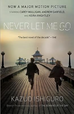 Never Let Me Go by Kazuo Ishiguro, a paperback book