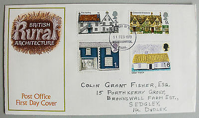 1970 British Rural Architecture First Day Cover