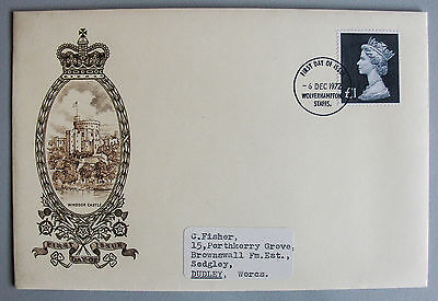 1972 £1 Definitive First Day Cover