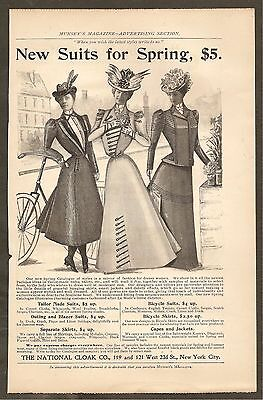Vintage Ad From Munsey's Magazine - The National Cloak Company Ladies Suits