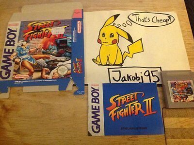 GameBoy game - Street Fighter 2 (Classic Series) (boxed+manual) Very well kept!