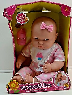 New Berenguer My Sweet Love Baby Doll Polka Dots Cupcake Outift Bottle