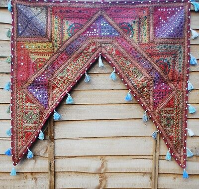 FAIR TRADE Recycled Fabrics Embroidered TORAN Door Arch Mirror Work BOHEMIAN